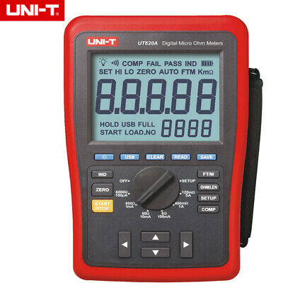 Uni-t Ut620a 60000 Counts Digital Micro Ohm Meter Resistance Meter 6.0000k Ohm