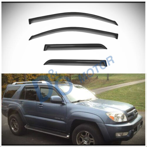 For 2003-2009 Toyota 4Runner Vent Shade Guard Window Visors Deflector Smoke 4PC