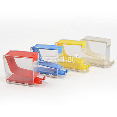 Dental Dentist Cotton Roll Dispenser Holder Box Case Press Type Cd02 Blue