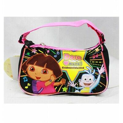 Nickelodeon Dora the Explorer Boots Love Music Black-Pink Kids Girls Hand Bag  Dora Black Child Boots