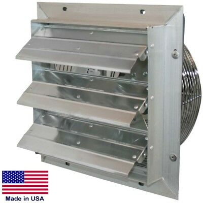 20 Shutter Exhaust Fan - 3140 Cfm - 115 V - 13 Hp - 1 Ph - Variable - Direct