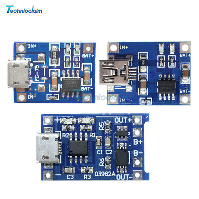 2/5/10PCS TP4056 5V 1A Mini/Micro USB 18650 Lithium Battery Charger Board Module 2,5 A Board