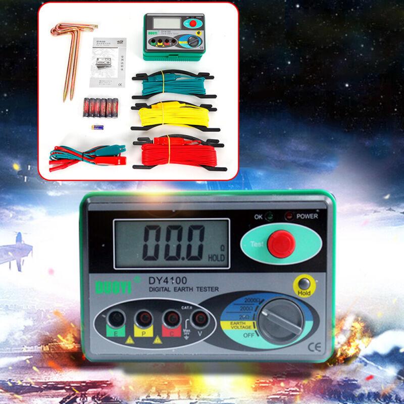 Megohmmeter 0-2000 Ohm Real Digital Earth Tester DY4100 Ground Resistance Meter