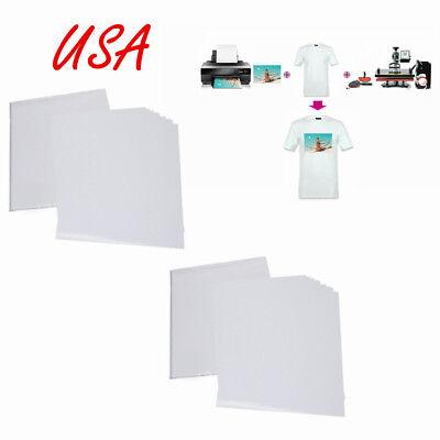 Usa 50pcs T-shirt Print Iron-on Heat Transfer Paper Sheets For Darklight Cloth