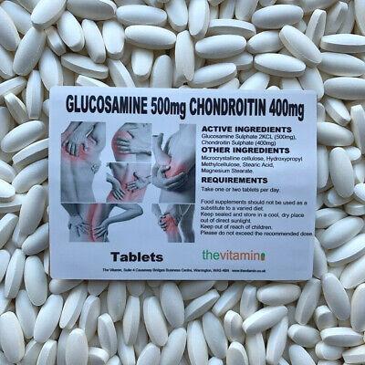 Die Vitamin Glukosamin 500MG Chondroitin 400MG 180 Tabletten Jetzt Coated - Ovp