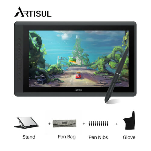 Artisul D16 Drawing Graphics Tablet Monitor Battery-free Pen Display Tablet
