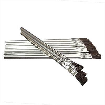 Flexible Natural Hair Bristle Tinmetal Tubular Ferrule Handle Acidflux 144 Pk