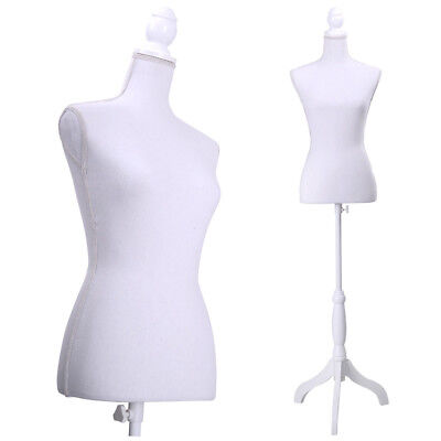 New Female Mannequin Torso Dress Form Display W White Tripod Stand Styrofoam
