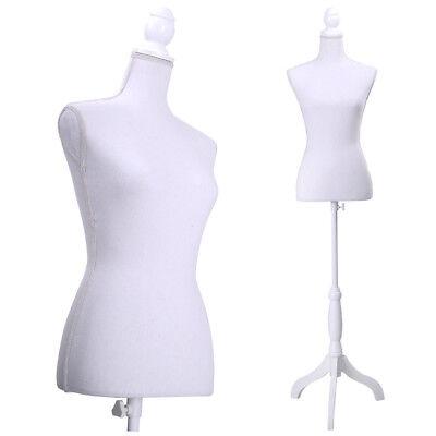 Adjustable Female Mannequin Torso Dress Form Display W Tripod Stand Styrofoam