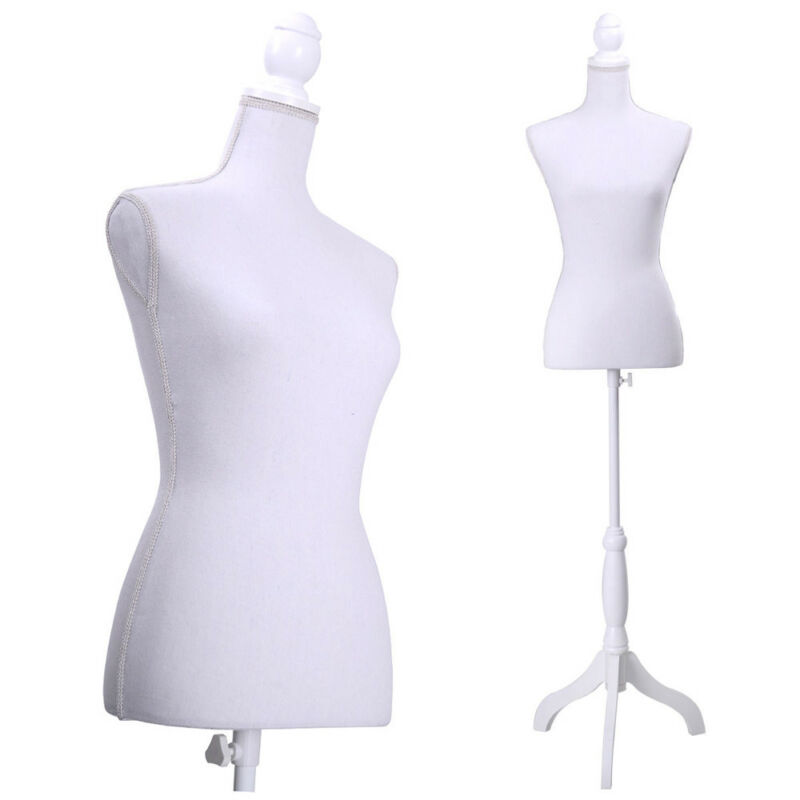 Adjustable Female Mannequin Torso Dress Form Display w/ Tripod Stand Styrofoam