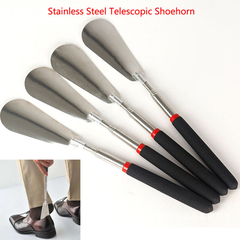 Travel Portable Telescopic Extendable Shoe Horn Handled Shoe Accessory US