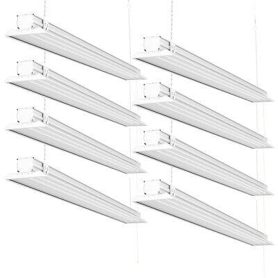 Sunco 8 Pack Flat Led Utility Shop Light 40w 300w 5000k Daylight 4500 Lm