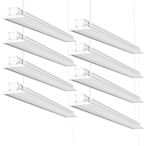 Sunco 8 Pack Flat LED Utility Shop Light 40W (300W) 5000K Daylight 4500 lm
