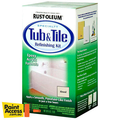 Tile Paint Kit (Paint / Rust-Oleum Tub & Tile Refinishing Kit 946ml - Almond - FREE SHIPPING)