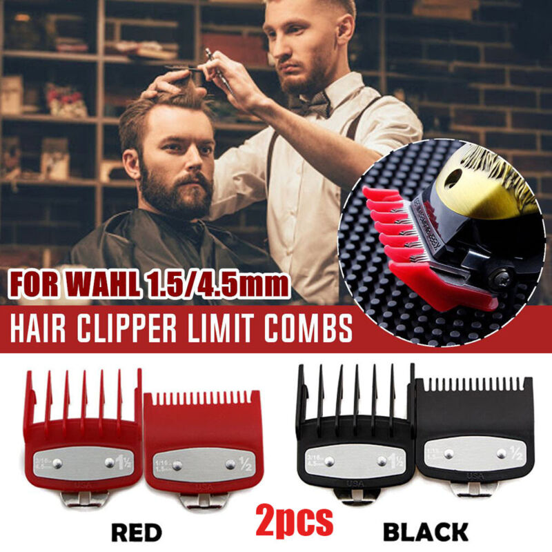 2PCS/Set 1.5/4.5mm Hair Clipper Limit-Trimmer Cutting Guide