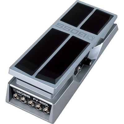 Stereo Volume Pedal - BOSS FV-500L Low Impedance Stereo Foot Volume Expression Guitar Pedal