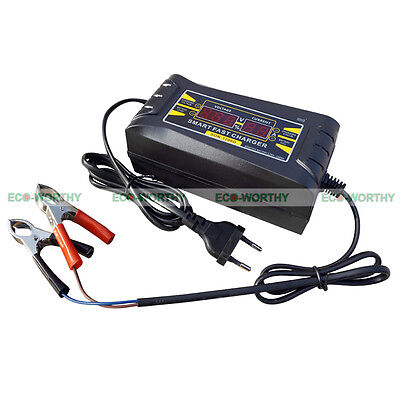 Smart 12V 6A Motorcycle Motorbike Battery Charger Automatic Smart Trickle
