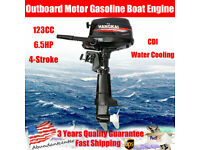 6.5HP 4Stroke Outboard Motor Gasoline Boat Engine CDI Water Cooling System 123CC