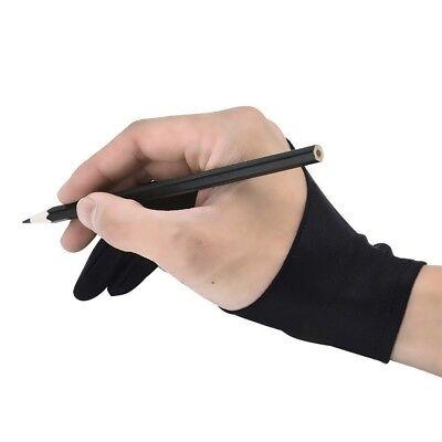 Practical Antiskid Black Work Anti-fouling Drawing Glove Two Fingers Unisex