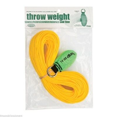 Weaver Throw Weight Line Kit12oz X 150 Rope Neon Green Throw Weight