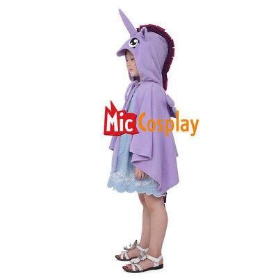 Unicorn Halloween Kids Cosplay Purple Costume Wings Cloak For Little Girls - Little Kids Halloween Costume