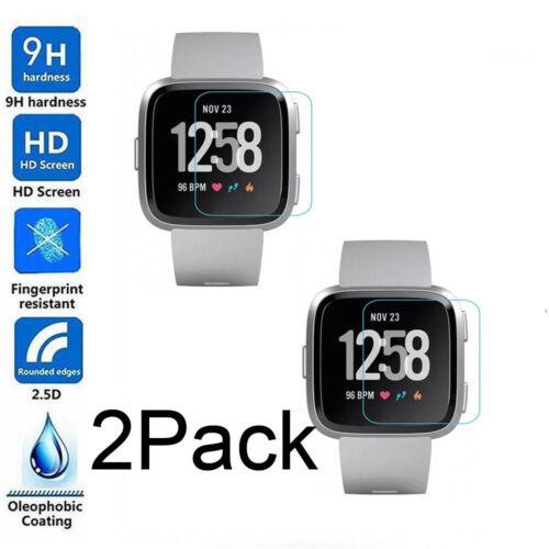 2-Pack Tempered Gorilla Glass Screen Protector For Fitbit Versa /Versa Lite