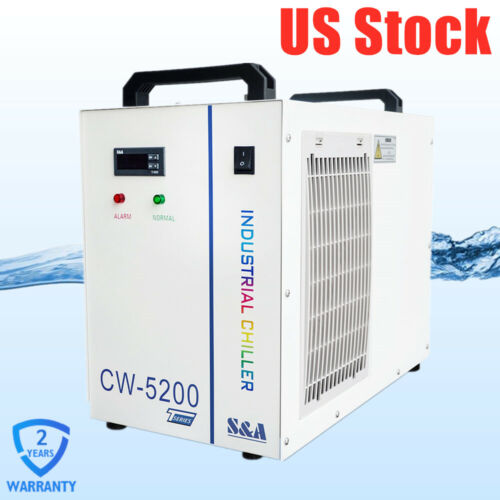 US Stock S&A 220V Industrial Water Chiller CW-5200TH for 130-150W CO2 Laser Tube