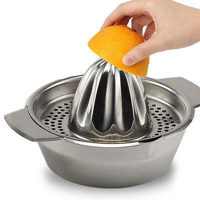 Stainless Nerve Citrus Lemon Orange Lime Squeezer Juicer Hand Press Kitchen Tool