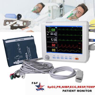 8hospital Patient Monitor 6paras Vital Signs Monitor Spo2prnibpecgresptemp