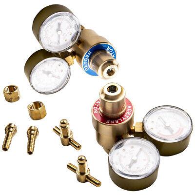 Oxygen And Acetylene Solid Brass Regulators 4 Welding Victor Gas Torch Cutting