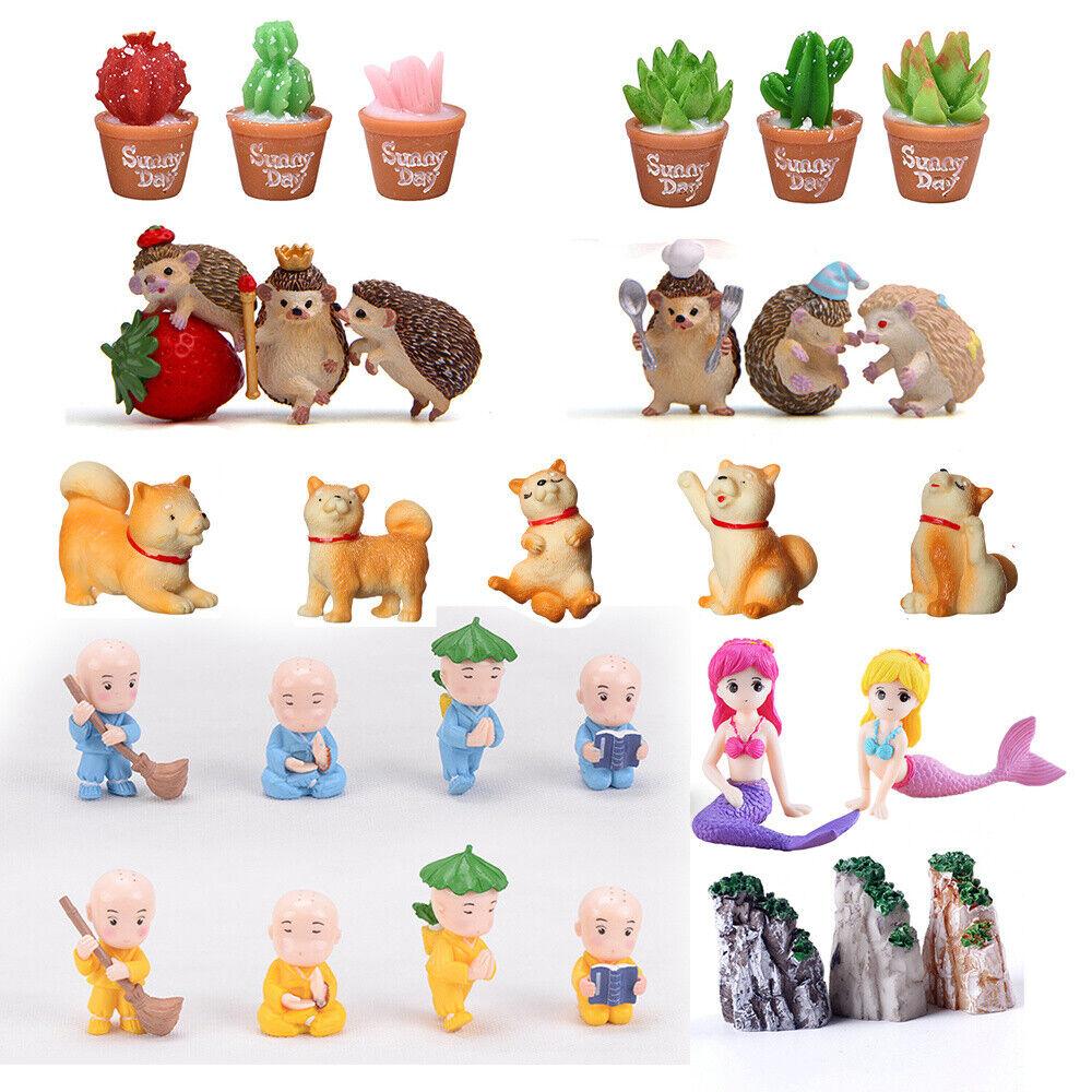 garden decor - DIY Mini Miniature Fairy Garden Ornament Decor Pot Craft Dollhouse Accessories