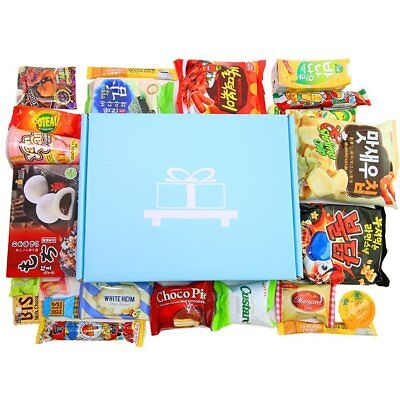 Deluxe Asian Snack Box (22 Count) Variety Assortment of Korean Candy Sweets Set