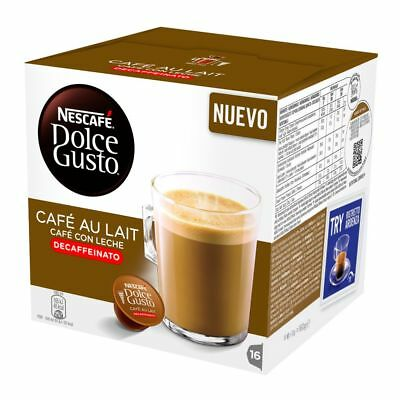 Nescafe DOLCE GUSTO: Cafe Au Lait  DECAF -Coffee Pods -16 pods-FREE SHIPPING Au Lait Coffee