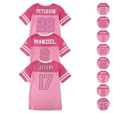 NFL Mid Tier Replica Pink Toddler Youth Jersey Collection Girls Sizes (4-16)