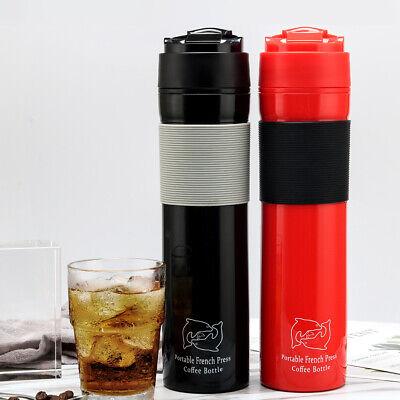 i Cafilas 12oz Portable French Press Travel Mug Coffee Maker Double Wall Camping ()