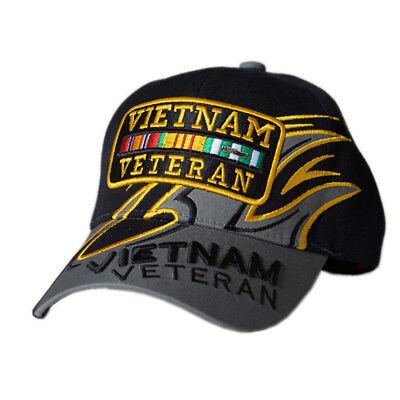 US Honor Embroidered Shark Fin Vietnam Veteran Bar Baseball Caps Hats ()