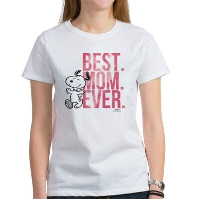 CafePress Snoopy Best Mom Ever Women's T Shirt Women's T-Shirt (Best Womens Costumes Ever)
