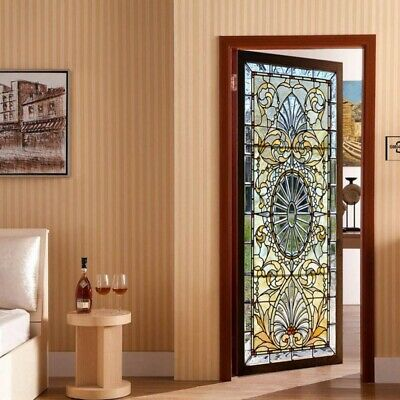 Static-Cling Frosted Stained Glass Door 3D-Sticker Film Privacy Decor