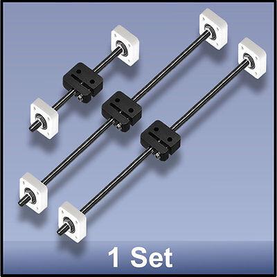 Cnc Stainless Steel M8 395395190 Mm Xyz Lead Screwdelrin Nutbearing Set