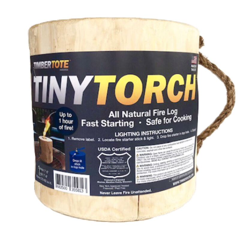 TimberTote Mighty Tiny Torch One Log Campfire Camping Cooking Camp Fire Wood Log