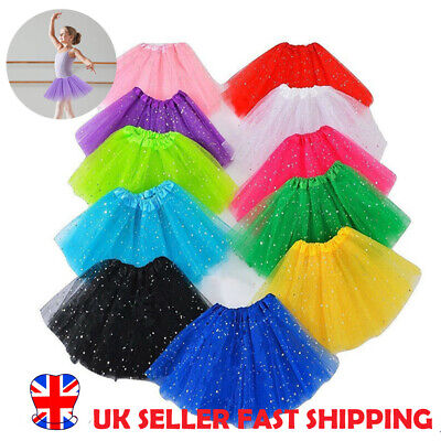 Ladies Girls 3 LAYERS HIGH QUALITY TUTU SKIRT Halloween Fancy Dress Hen Party UK
