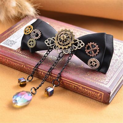 Steampunk Gears Hair Clips Tassels Hair Accessories Bowknot Hairpins Jewelry/-