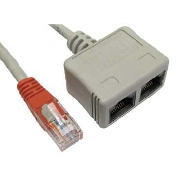 Cat5e Ethernet Lan Splitter VV Cable Economiser For Voice Networks RJ-ECON Cat5