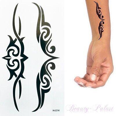 Einmal Tattoo Ornament - Temporary Tattoo Aufkleber Temporäre Tattoosr H014