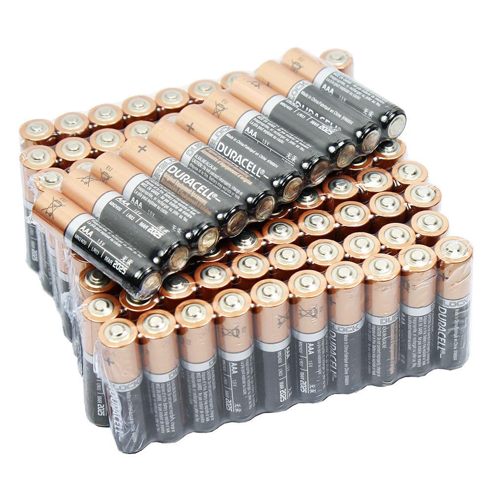 100 PCS Duracell AAA 1.5V Alkaline Batteries Duralock LR03 AM4 Bulk Exp. 2026