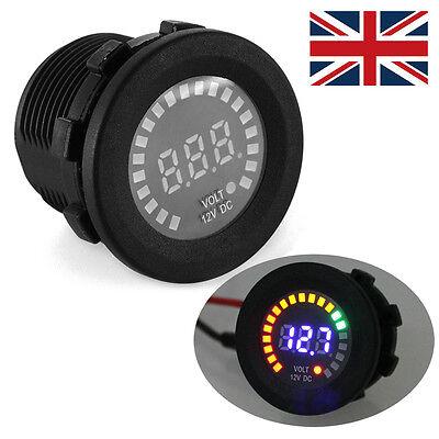 Car Motorcycle Led Panel Digital Voltage Socket Meter Display Voltmeter Dc 12v