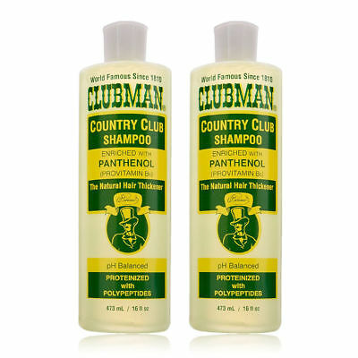 Clubman Pinaud Country Club Shampoo Enriched in Panthenol 16oz Set Of 2pcs! (Clubman Shampoo)