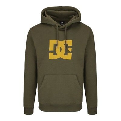 2016 NWT MENS DC STAR PULLOVER HOODIE $45 M dark olive sweatshirt sweater Dc Star Pullover Hoodie