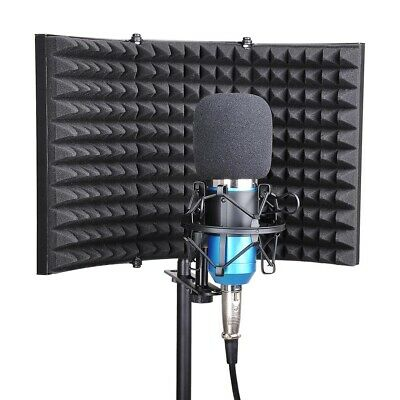 Microphone Isolation Shield Filter Vocal Sound Recording Foam Panel Soundproof