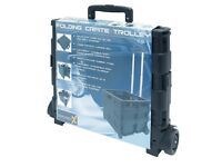 FOLDING CRATE LARGE BLACK TROLLY NEW